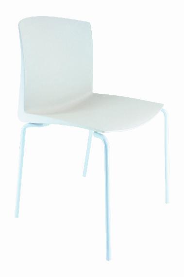 Silla CLOE B asiento pvc blanco estructura blanca