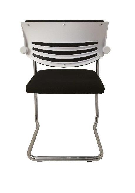 silla Kosmos respaldo blanco y tapizado