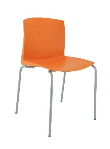 Silla CLOE G estructura gris asiento PVC
