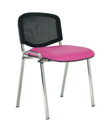 silla GOA 4 patas cromadas respaldo en malla