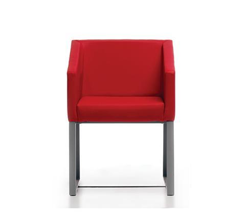 Silla Link-Upl 1 tapizada en rojo