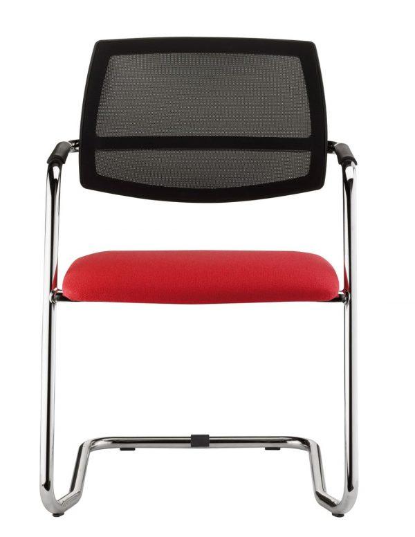 Silla Malla roja asiento respaldo malla negar