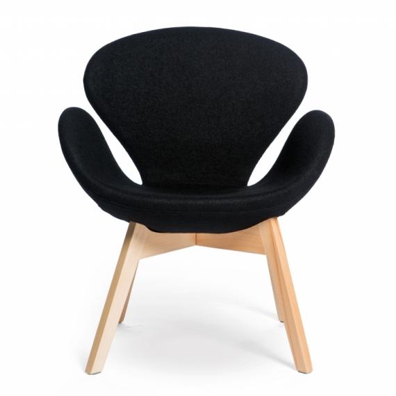 Silla Flower M estructura de madera natural asiento tapiado