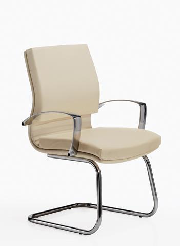 sillón platinum 3 base patin cromado