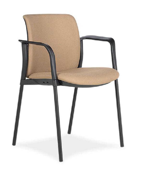 SILLA zoe 6 respaldo y asiento tapizado 4 patas negra