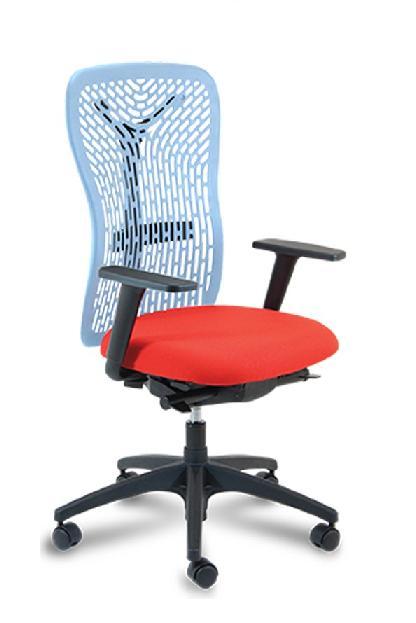 Silla FLEXI 1 sincro respaldo pvc varios colores sistema sincro asiento tapizado