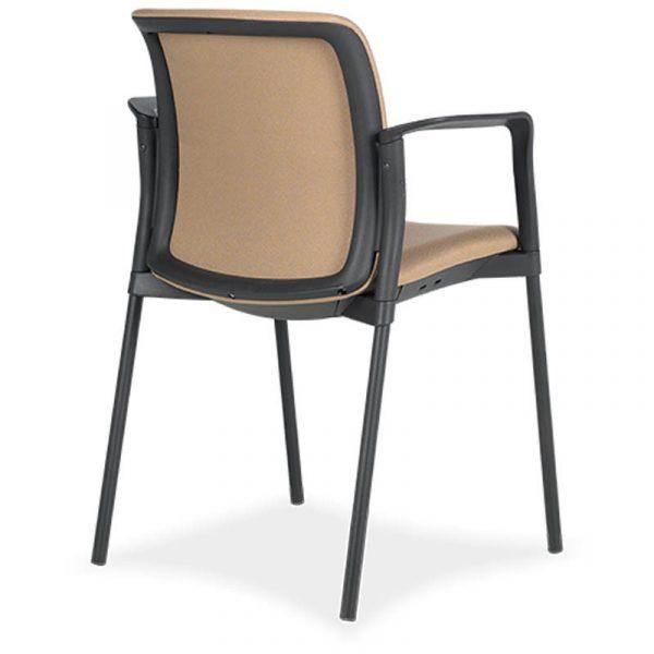 SILLA zoe 6 respaldo y asiento tapizado estructura negra