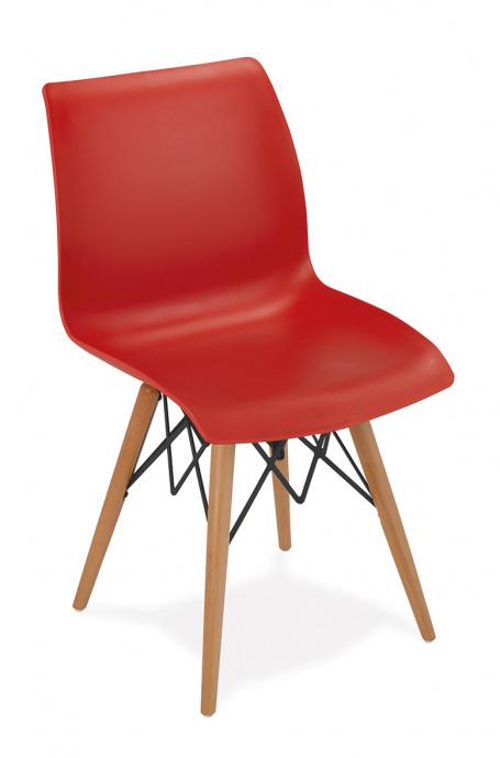 Silla 1710 color rojo