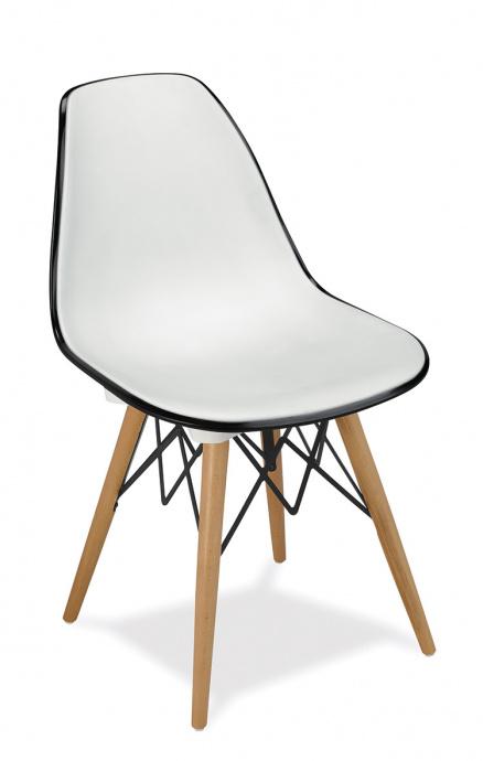 Silla M 1700 blanca trasera negra