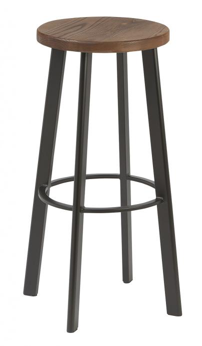 Taburete M 5041 base de asiento en madera estructura de 4 patas color negro