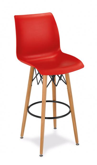 Taburete M 5710 color rojo