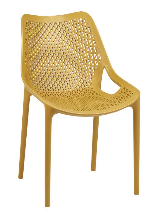 Silla Bilros color amarillo mostaza